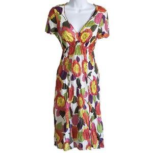 Boden Women's Broomstick Dress Cotton Floral Sz 8
